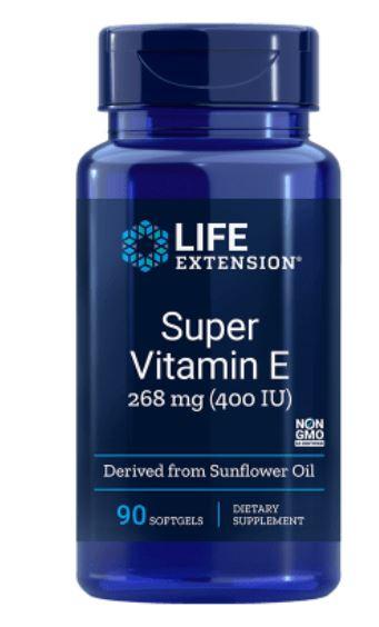 Image of Vitamina E naturale 400 Iu - 90 Softgels - Life Extension 0737870186397