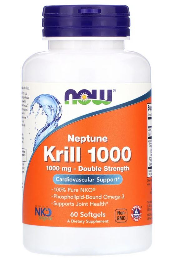 Image of Now Foods, Neptune Krill 1000, 60 Softgels 0733739016270