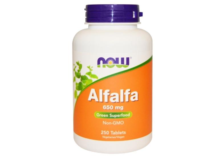 Alfalfa 650 mg (250 tablets) Now Foods