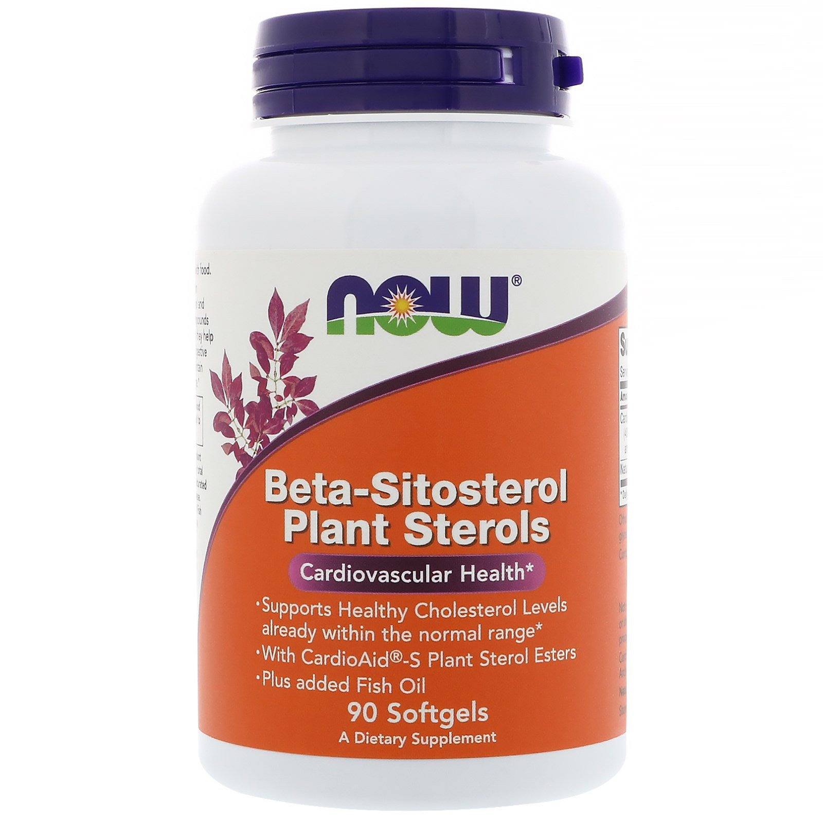 Beta Sitosterol Plant Sterols (90 softgels) Now Foods