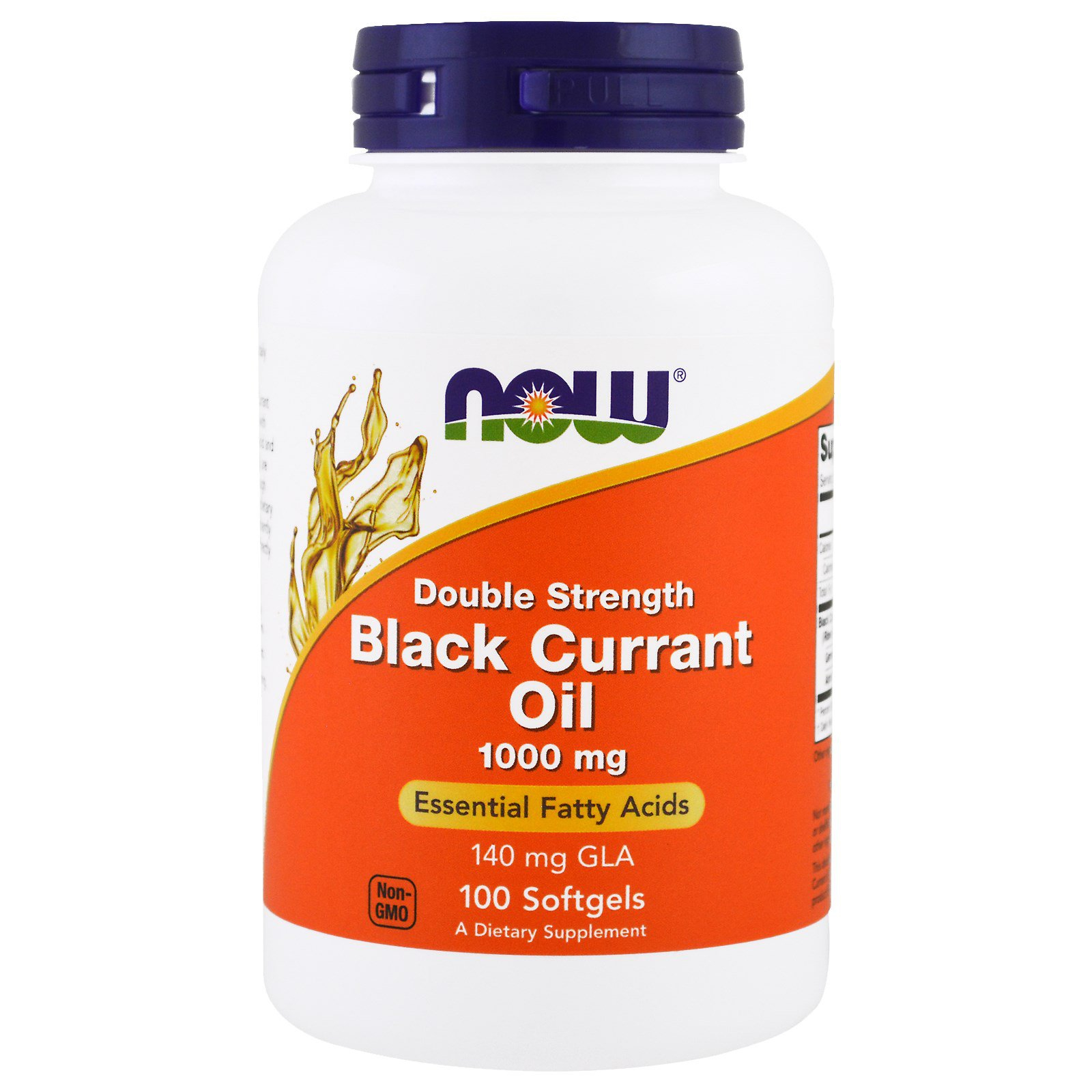Image of Black Currant Oil Double Strength 1000 mg (100 softgels) - Now Foods 0733739017178