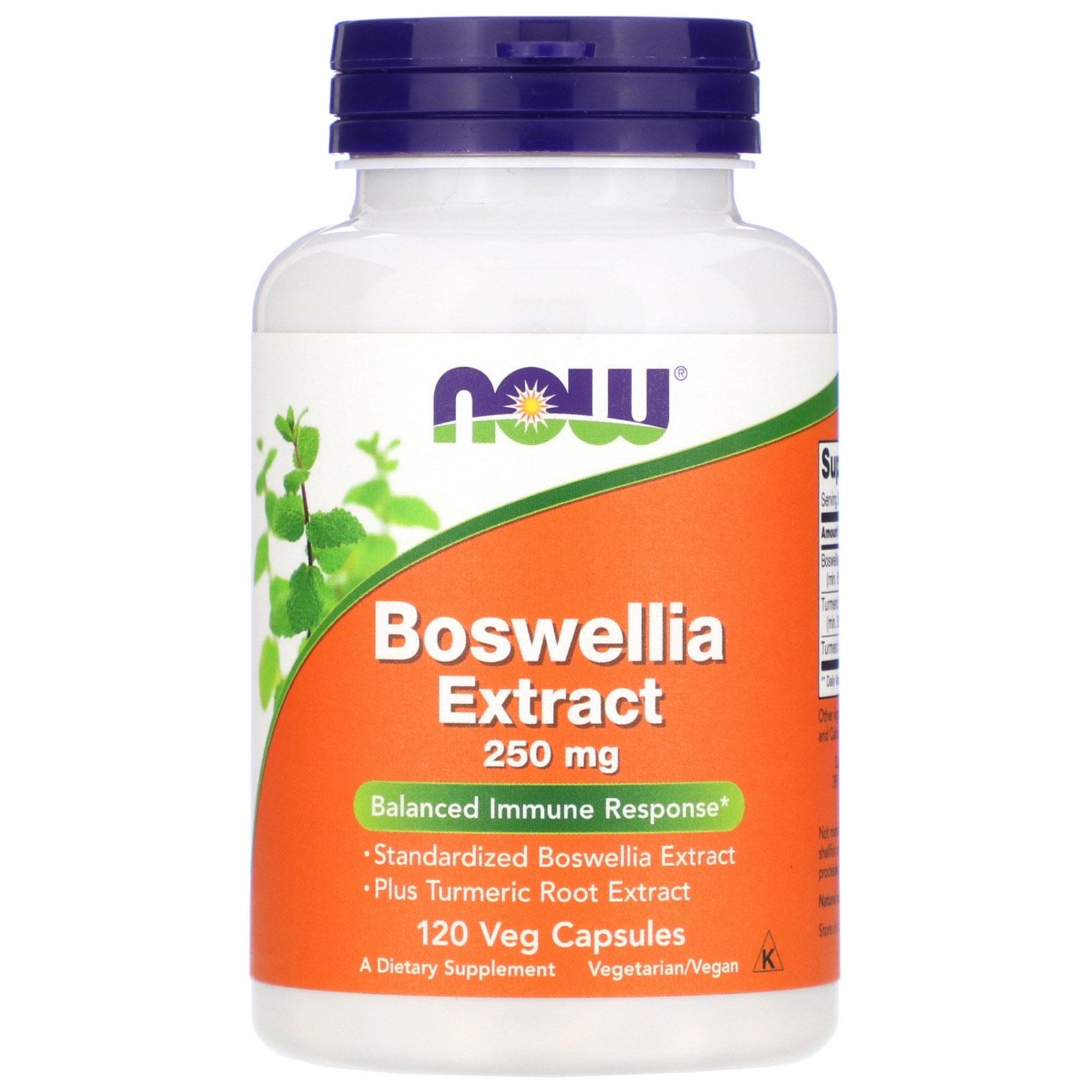 Image of Estratto di Boswellia 250mg (120 Veg Caps) - Now Foods 0733739046147