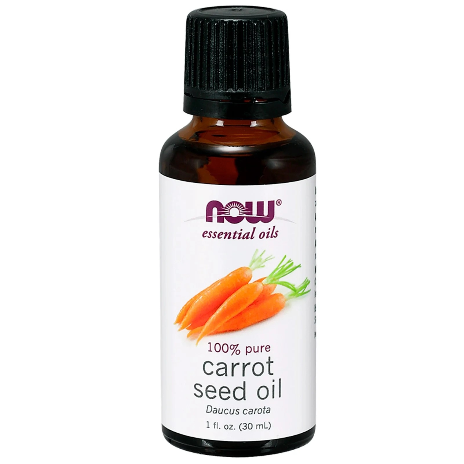 Image of Essential Oils- Carrot Seed Oil (30 ml) - Now Foods 0733739074829