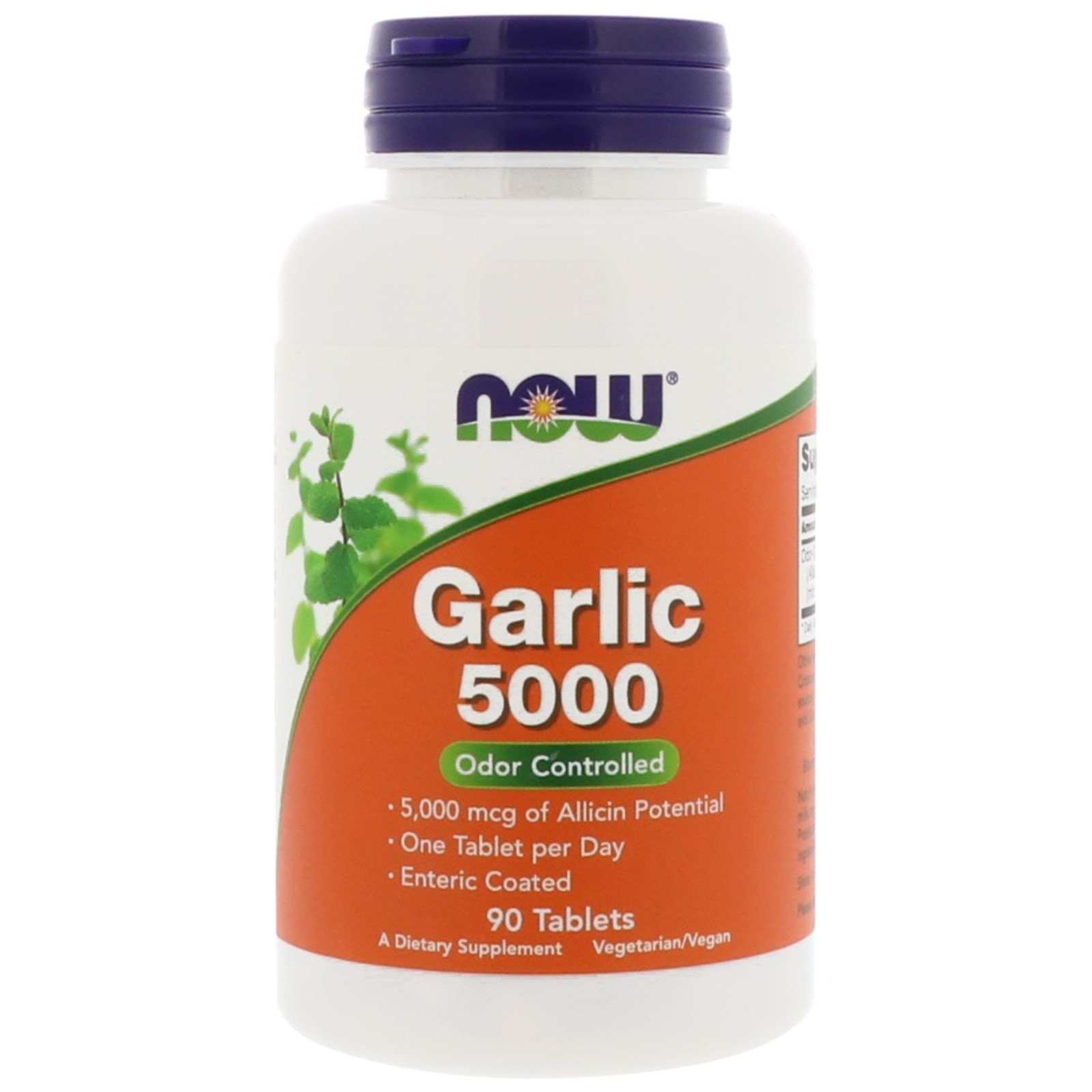 Image of Garlic 5000 (90 tablets) - Now Foods 0733739018144