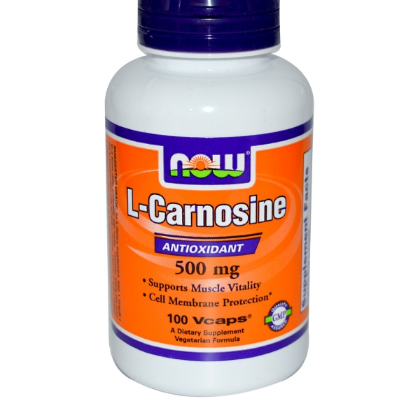 Image of Now Foods, L-Carnosine, 500 mg, 100 Vcaps 0733739000798