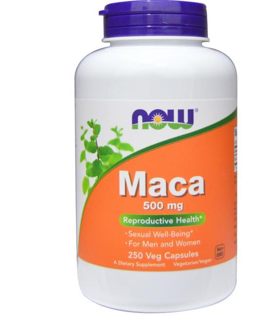 Image of Maca 500 mg - 250 Veggie Caps - Now Foods 0733739047625