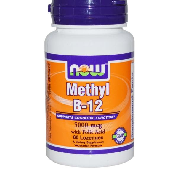 Image of Now Foods, Methyl B-12, 5000 mcg, 60 Lozenges 0733739004963