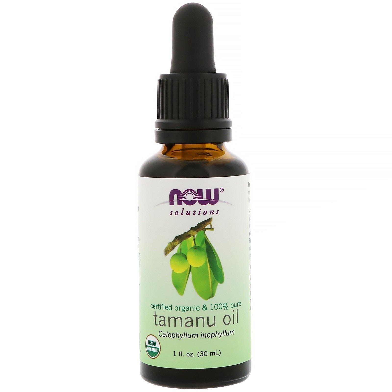 Image of Certified Organic & 100% Pure- Tamanu Oil (30 ml) - Now Foods 0733739077394