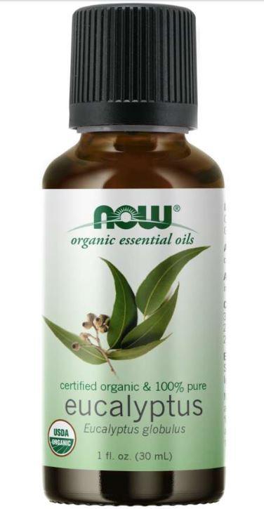 Image of Organic Eucalyptus Globulus Oil (30 ml) - Now Foods 0733739074102