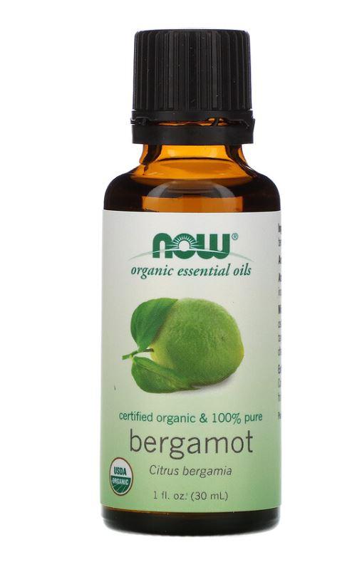 Image of Organic Essential Oils- Bergamot (30 ml) - Now Foods 0733739074140
