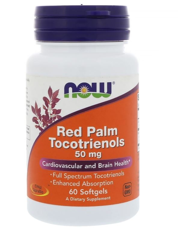 Image of Red Palm Tocotrienols 50 mg (60 softgels) - Now Foods 0733739030818