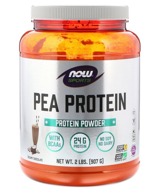 Image of Pea Protein Dutch Chocolate (907 gram) - Now Foods 0733739021335