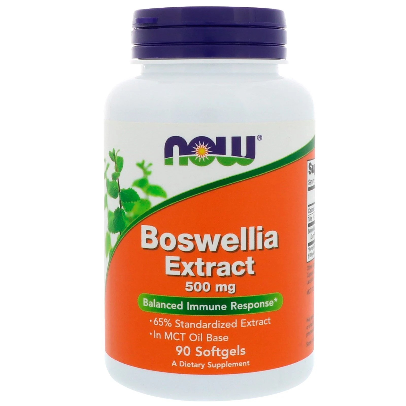 Image of Boswellia Extract 500 mg (90 softgels) - Now Foods 0733739049360