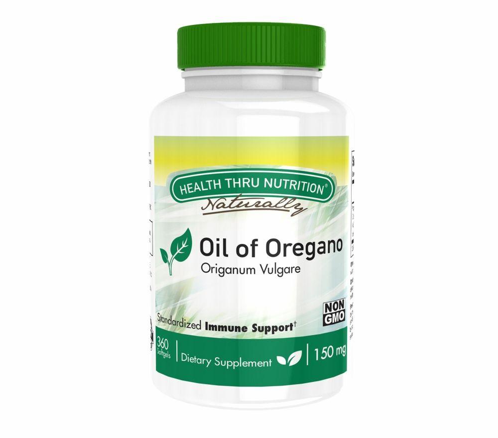 Image of Oil of Oregano (Wild) 150 mg (non-GMO) (360 Softgels) - Health Thru Nutrition 0819193020449