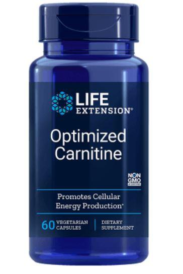 Image of Carnitina Ottimizzata Con Glycocarn, 60 Capsule Vegetali - Life Extension 0737870201861