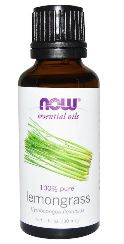 Image of Organic Essential Oils- Lemongrass (30 ml) - Now Foods 0733739074157