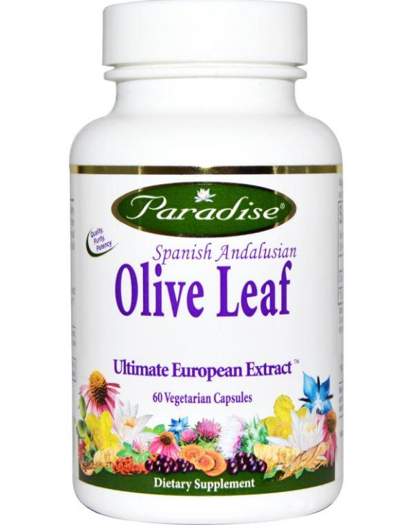 Image of Paradise Herbs, Foglia di oliva Spagnolo andaluso, 60 Veggie Caps 0601944777340