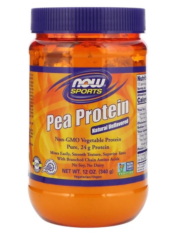 Image of Pea Protein - Natural Unflavored (340 gram) - Now Foods 0733739021328