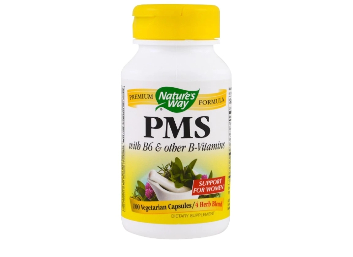 Image of PMS with B6 and Other B-Vitamins (100 Capsules) - Nature's Way 0033674793008