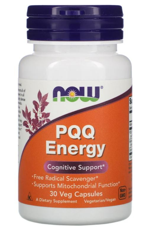 Image of PQQ Energy (30 Vegetarian Capsules) - Now Foods 0733739031686