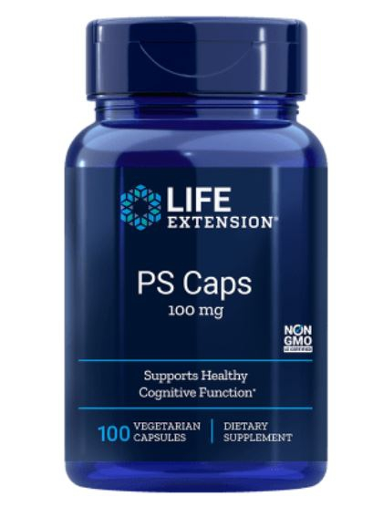 Image of PS Caps 100 mg (100 Veggie Caps) - Life Extension 0737870167617