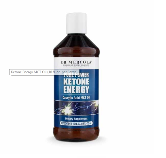 Image of Ketone Energy MCT Oil (473 ml) - Dr. Mercola 0813006018142