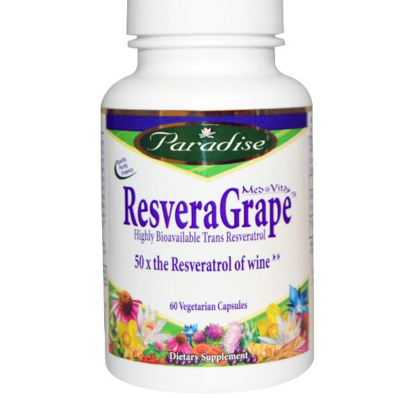 Image of Paradise Herbs, MedVita, ResveraGrape, 60 Veggie Caps 0601944777944