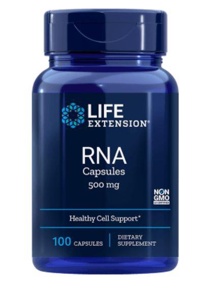 Image of RBA (Acido Ribonucleico) 500 Mg 100 Capsule - Life Extension 0737870070108