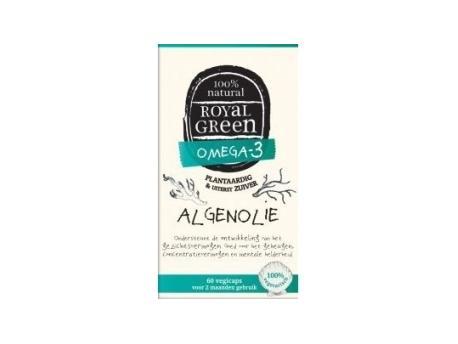 Image of Algae Oil (60 vcaps) - Royal Green 8710267733017
