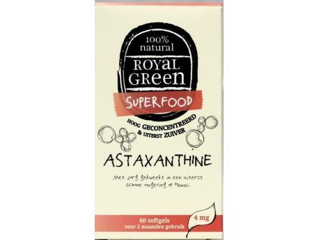 Image of Astaxanthine (60 softgels) - Royal Green 8710267750014