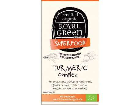 Image of Turmeric Complex Organic (60 vcaps) - Royal Green 8710267740183