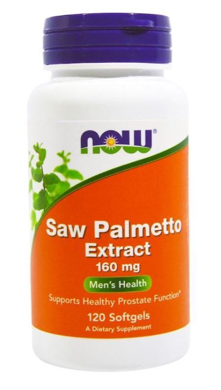Image of Saw Palmetto Extract 160 mg (120 softgels) - Now Foods 0733739047427