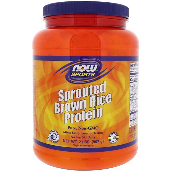 Image of Sprouted Brown Rice Protein - Unflavored (907 gram) - Now Foods 0733739022066