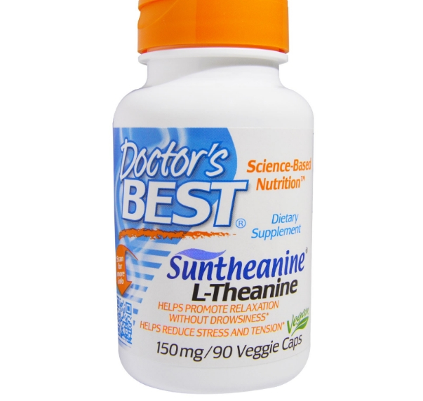 Image of Doctor's Best, Suntheanine L-Theanine, 150 mg, 90 Veggie Caps 0753950001978
