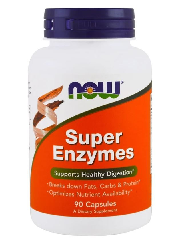 Image of Super Enzymes (90 capsules) - Now Foods 0733739029638