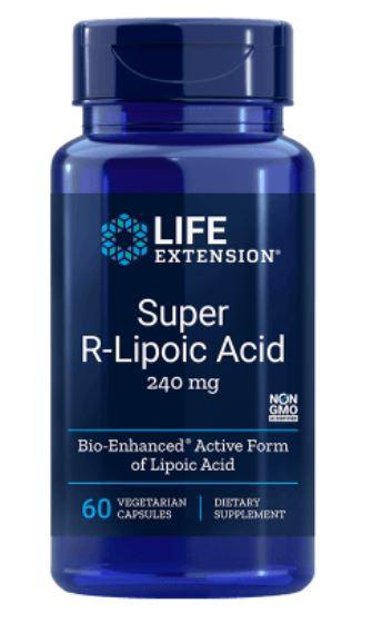 Image of Life Extension, Super R-Lipoic Acid, 240 mg, 60 Veggie Caps 0737870120865