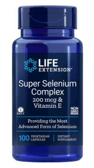 Image of Super selenio complesso 200 mcg & vitamina E (100 capsule vegetariane) - Life Extension 0737870177814