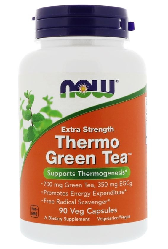 Image of Thermo Green Tea Extra Strength (90 Vegetarian Capsules) - Now Foods 0733739020758
