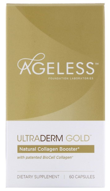 Image of Ageless Foundation Laboratories, UltraDerm Gold, Collagen Booster, 60 Capsules 0691546001608