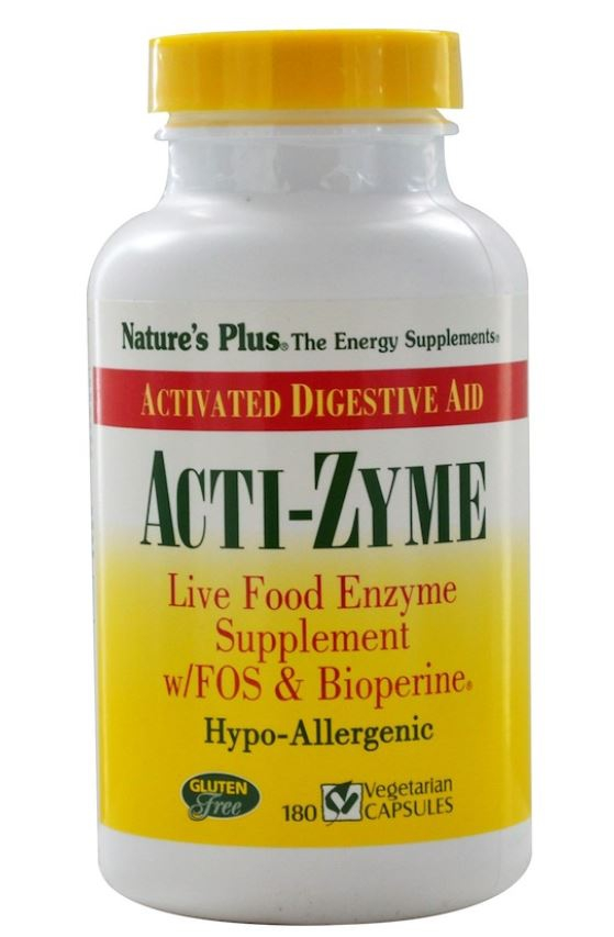 Image of Acti-Zyme (180 Vegetarian Capsules) - Nature's Plus 0097467445413