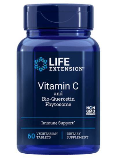 Life Extension, Vitamina C con Dihydroquercetin 1000 mg, 60 compresse