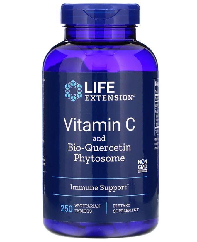 Image of Life Extension, Vitamina C con Dihydroquercetin, 1000 mg, 250 compresse Veggie 0737870222729