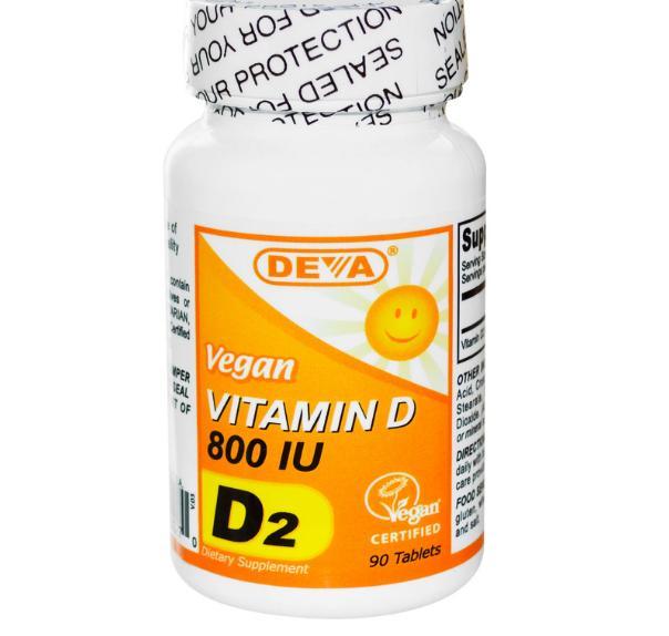 Image of Deva, Vegan, vitamina D, 800 IU, 90 compresse 0895634000270