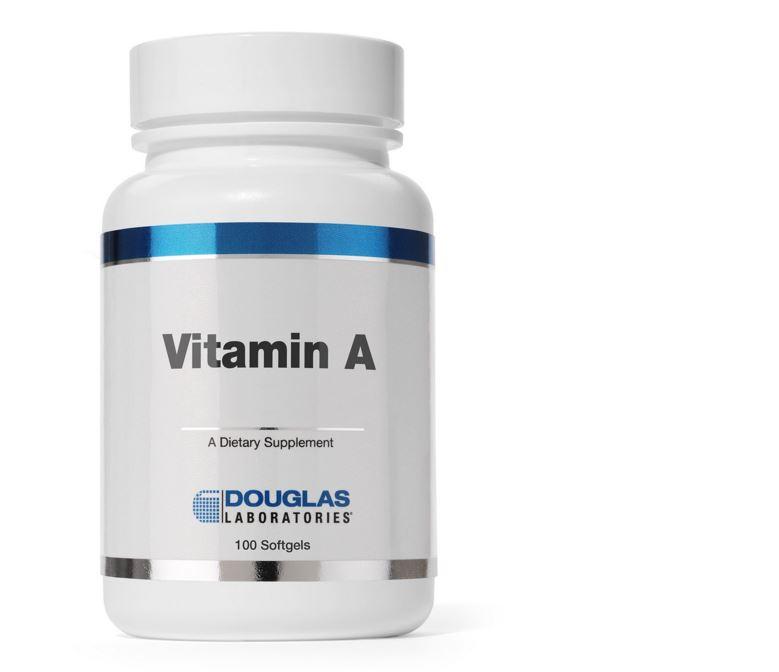 Image of Vitamina A 4000 IU - 100 capsule vegetali - Douglas Laboratories 8713975900009