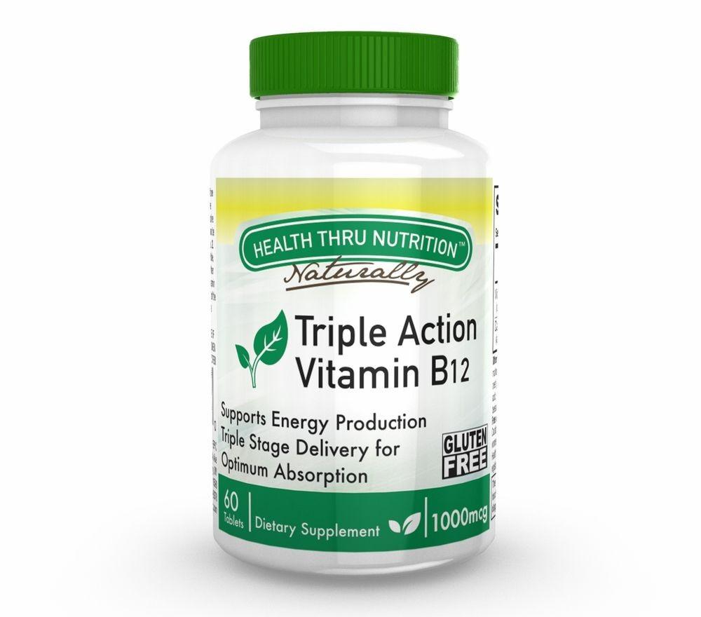 Image of Vitamin B12 1.000 mcg (60 Tablets) - Health Thru Nutrition 0819193020104