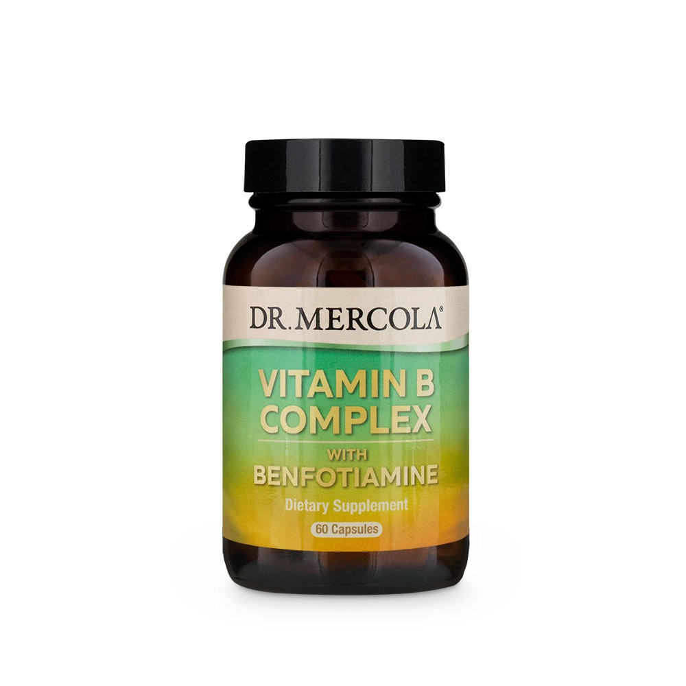 Image of Vitamin B Complex (60 Capsules) - Dr. Mercola 0813006018340