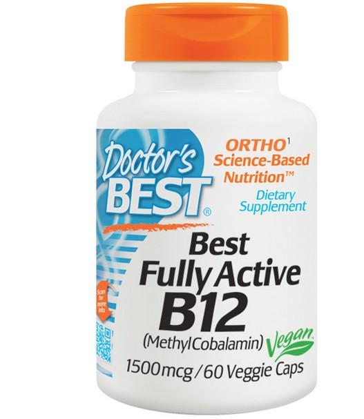 Image of Best completamente attivo B12, 1500 mcg (60 Veggie Caps) - Doctor's Best 0753950002869