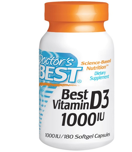 Image of Best vitamina D3 1000 IU (180 Softgels) - Doctor's Best 0753950002098