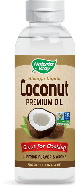 Image of Nature's Way, Liquid Coconut Premium Oil, 10 fl oz (296 ml) 0033674158579