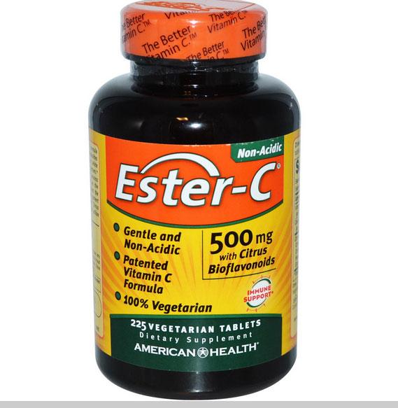 Image of American Health, Ester-C 500 mg con bioflavonoidi di agrumi, 225 Veggie Tabs 0076630169745